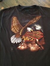 Vintage 1986 Harley Davidson motorcycles 3D Emblem shirt T-Shirt XL