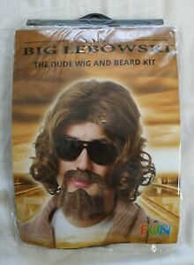 Fun Costumes Big Lebowski Adult The Dude Wig and Beard Kit - New In Pack