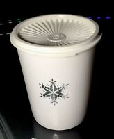 NEW VINTAGE Tupperware  Servalier Canister 5 cp Christmas Winter SNOWFLAKE *NEW*