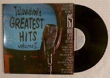 TELEVISION'S GREATEST HITS Volume II Various Orig '86 TVT 2LP Vinyl Shrink VG++