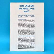 dkk Haushaltskühlschrank H 130 H170 l DDR 1970 | Prospekt Werbung Werbeblatt B