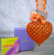 NEW Expressions From HEART OF A WOMAN Blown Glass Ornament w/ Swarovski Crystals