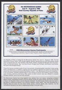PALAU 1998, SPORTS: MICRONESIAN GAMES, Scott 465, SOUVENIR SHEET, MNH