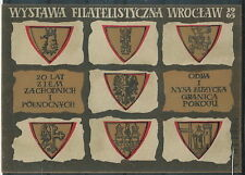 Poland label 1965 Philately Exhibition WROCLAW (sheet)