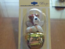 3 Pc Set Fox Terrier Dog Figurine Brass Bells By Dnc Collections Lot Ornaments