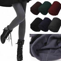 Women Thermal Thick Warm Fleece lined Stretch Pants Skinny Slim Leggings Fashion