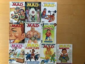 MAD MAGAZINE 10 ISSUE LOT #260 - #266 AND THREE SUPER SPECIAL ISSUES FROM 1986