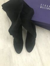 STUART WEITZMAN Black Suede Highland Over The Knee Boots Size 40