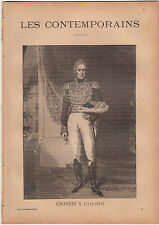 Charles X Roi FRANCE Comte d'Artois JOURNAL COMPLET 16 PAGES 1893