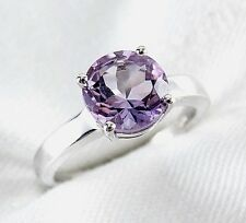 Fine Round Cut Amethyst Ring 2.33ct 925 sterling Silver Size 7 List $350