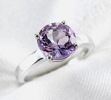 Genuine Purple Amethyst Ring 2.33ct 925 sterling Silver Size 7 List $350.00