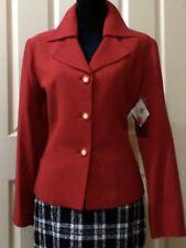 ANTHEA CRAWFORD vintage 3 button 2 pocket long sleeve WOOKMARK jacket sz 12 NWT
