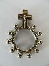 Vintage Prayer ring 10 with a cross , gebedsring