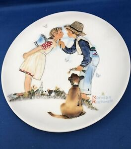 1972 GORHAM - NORMAN ROCKWELL Limited Edition Plate SPRING BEGUILING BUTTERCUP