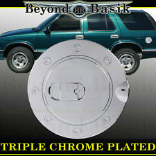 94-03 CHEVROLET S10 S-10 Triple ABS Chrome Fuel Gas Door Cover Cap Overlay Trims