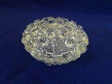 BRILLIANT CUT GLASS HEAVY CRYSTAL LIDDED DISH-JEWELRY/TRINKET/KEEPSAKES-LKN