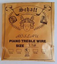 Schaff Roslau Piano Music Treble Wire Size 13-1/2 .032 1/3 Lb Coil 122' w Brake