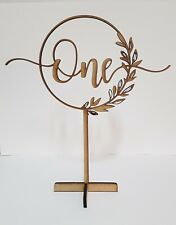 12 X Rustic Wooden Table Numbers 1-12