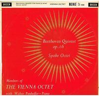 Beethoven: Quintett Op.16; Spohr: Oktett / The Vienna Octet - LP Decca LXT