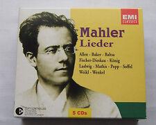MAHLER Lieder/ALLEN-BAKER-BALTSA-... EUROPE 5CD Box set EMI 5 85024 2(2003) MINT