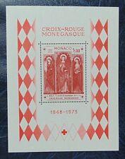 monaco 1973 bloc 7 neuf luxe ** cote 20 25 ans croix rouge monégasque