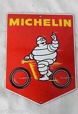 Michelin Männchen - 15x11cm Bibendum - Emailschild Motorrad - Schild - Türschild