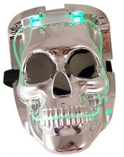 LED Flashing Light Up Skull Skeleton Halloween Costume Rave Party Mask