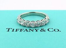 TIFFANY & CO PLATINUM SHARED SETTING .91CT .93 DIAMOND 3.5MM BAND 5.5 W/ PAPERS!