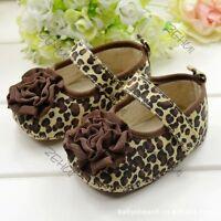 3-12M Toddler Kids Baby Girls Shoes Soft Sole Flower Crib Shoes Prewalker