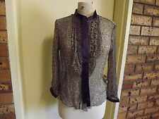 Harry Who LS Silk Blouse sz 12
