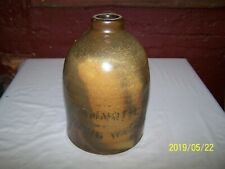 ANTIQUE MAMMOTH SPRING WATER 2 GALLON STONEWARE JUG ~ VARIEGATED GLAZE !!