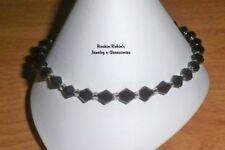 """Black Stretch Anklet Ankle Bracelet - 10"""""""