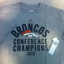 NEW NFL Denver BRONCOS Tee T shirt Size Large Gray Conference Champions NWT