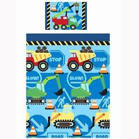 CONSTRUCTION TIME JUNIOR COT BED TODDLER DUVET COVER NEW DIGGER
