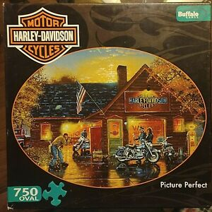 Harley Davidson Puzzle Picture Perfect 750 Pieces Oval 26.75 X 19.75 Poster 2012