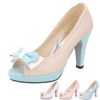 hana womens Barbie high heels Pumps Open Toe Evening Light Tone Sandals Size