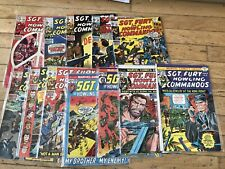 Lot Of 12 Sgt Fury And His Howling Commandos Comics