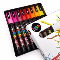 Uni POSCA - PC-3M Art Paint Markers - Warm Tones - Set of 8 - In Gift Box