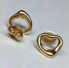 TIFFANY & CO. HEART STUD 18K YELLOW GOLD EARRINGS