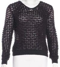 Theyskens' Theory Merino Wool & Alpaca Knit Sweater $375 Retail Purple Size S