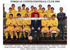TORQUAY UNITED F.C.TEAM PRINT 1968 (STUBBS / BOND / BROWN / MATTHEWS / SCOTT)