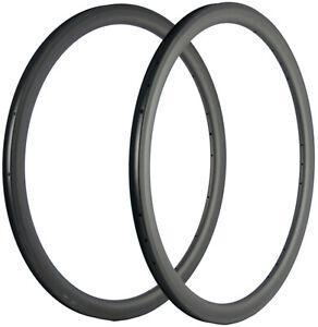 700C Full Carbon Fibre 40mm Carbon Rims 25mm Width Carbon Road Rim Bicycle Rim
