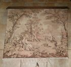 """Atq~French Aubusson Style~ Hanging Tapestry~Romantic Around the Maypole~40""""×47"""""""