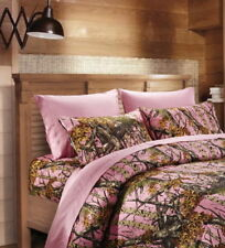 LIGHT PINK CAMO SHEET SET!! FULL SIZE BEDDING 6 PC CAMOUFLAGE MICROFIBER WOODS