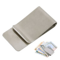 New Stainless Steel Silver Slim Money Clip Purse Wallet Credit Card ID Holder