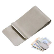 Stainless Steel Silver Money Clip Holder Cash Gift Mens Wedding Favour Metal Man