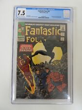 Fantastic Four #52 1st appearance of Black Panther CGC 7.5 OWW pages