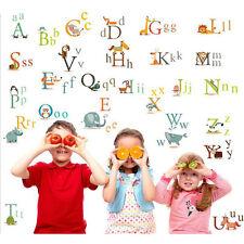 Tapisserie présupposé sticker alphabet école la fresque Lettres Chambre Enfant