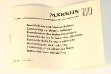 Märklin Anleitung 68 600 YNN 0358 ju, für den Anschluß der elektrischen Bahnen