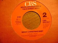 HOLLAND CBS 45 RECORD/ BRUCE SPRINGSTEEN/MERRY CHRISTMAS BABY/WAR/ NR MINT